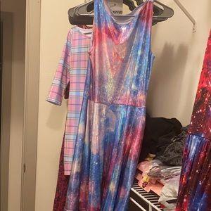 BlackMilk Velvet Galaxy Mini Dress